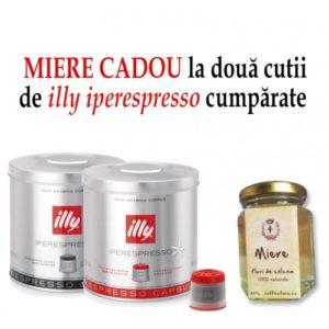 Oferta speciala doua cutii illy Iperespresso + un borcan de miere gratuit