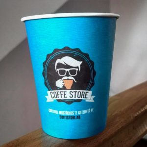 pahar coffestore 240ml albastru