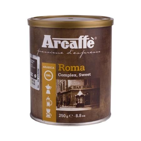 cafea macinata arcaffe roma cutie metalica